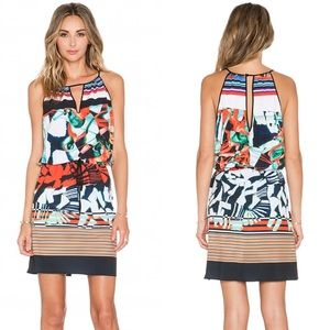 🔥 Clover Canyon ❃ Ink Strokes Print Shift Dress ❃